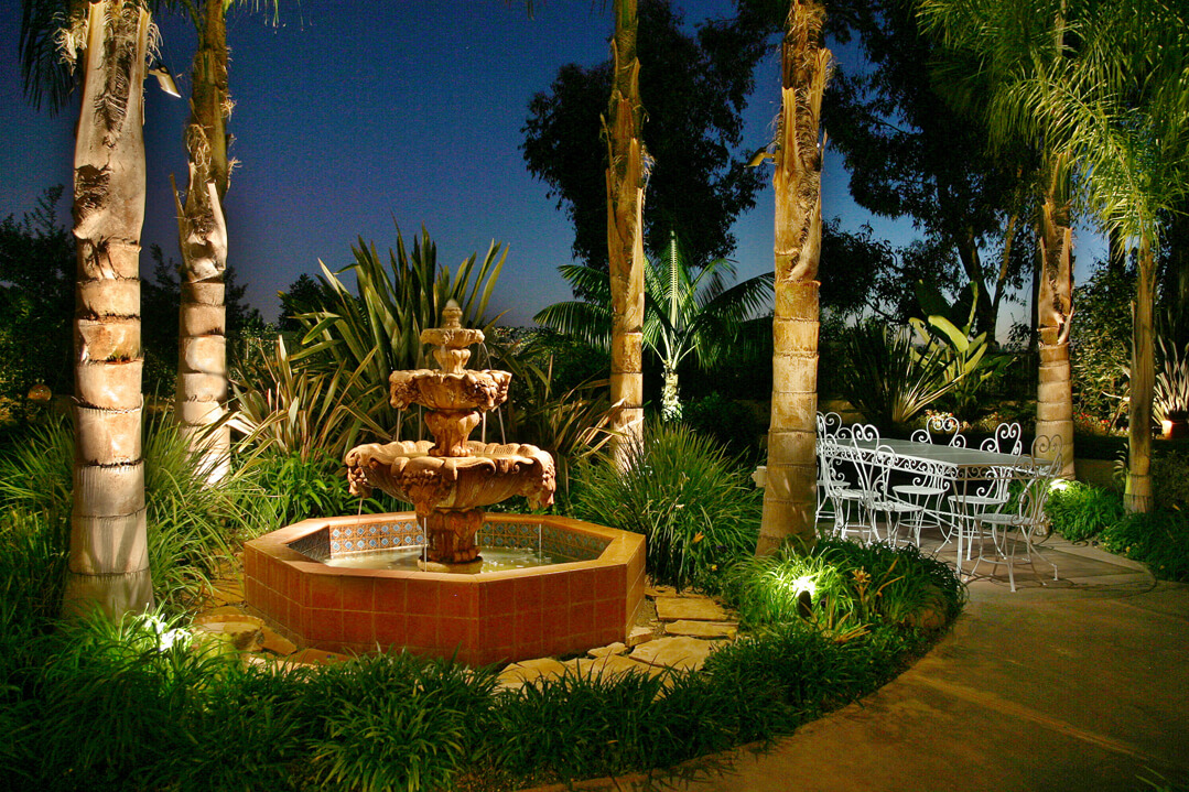 Make Your Fountain the Focal Point with Exterior Lighting