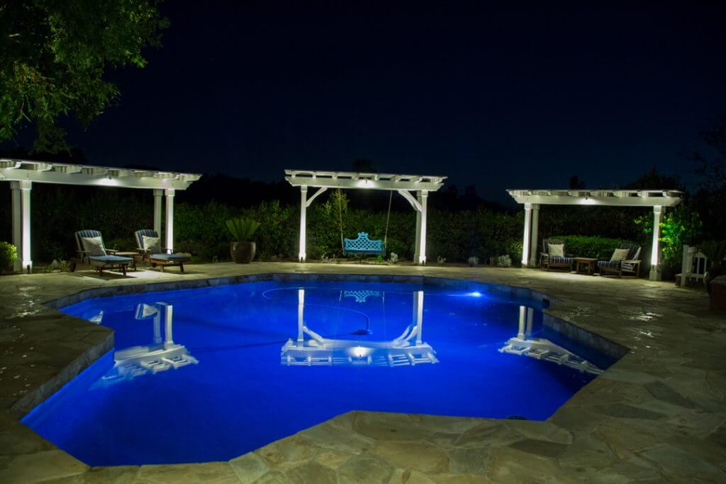 Blue Pool Lighting