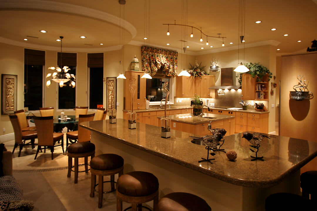 designers at lighting distinctions are always available to show you how recessed lighting will enhance any indoor space - Dining Room Recessed Lighting